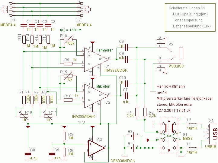 Mithören-analog