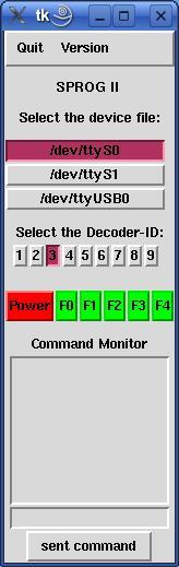 SPROG II USB under Linux